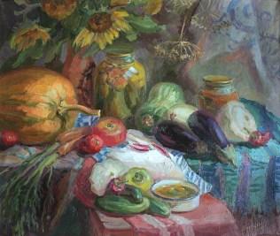 """""""Летний урожай"""" холст, масло 60х70 2011г."""