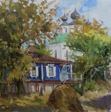 """Осень в Старочеркасске"" холст, масло 2015г."