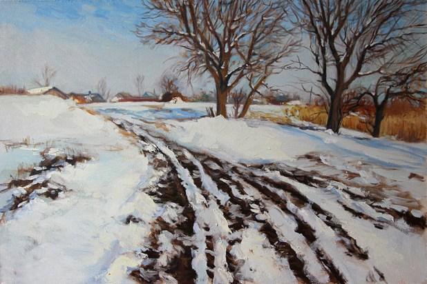 «Зима на хуторе» холст, масло 60х90 Цена: 25 000руб