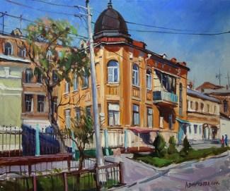 «Дом на Ульяновской» холст, масло 50х60 Цена:10 000руб