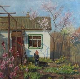 """""""Цветет весна"""" холст, масло 80х80см"""