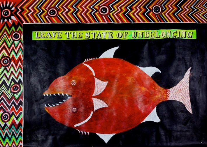 Leave the State of Unbelonging - Lubaina Himid