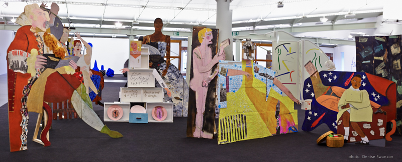 Lubaina Himid - Fashionable Marriage installation, Tate Liverpool