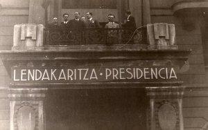 Lendakaritza - Presidencia. Sede del Gobierno Vasco en 1936