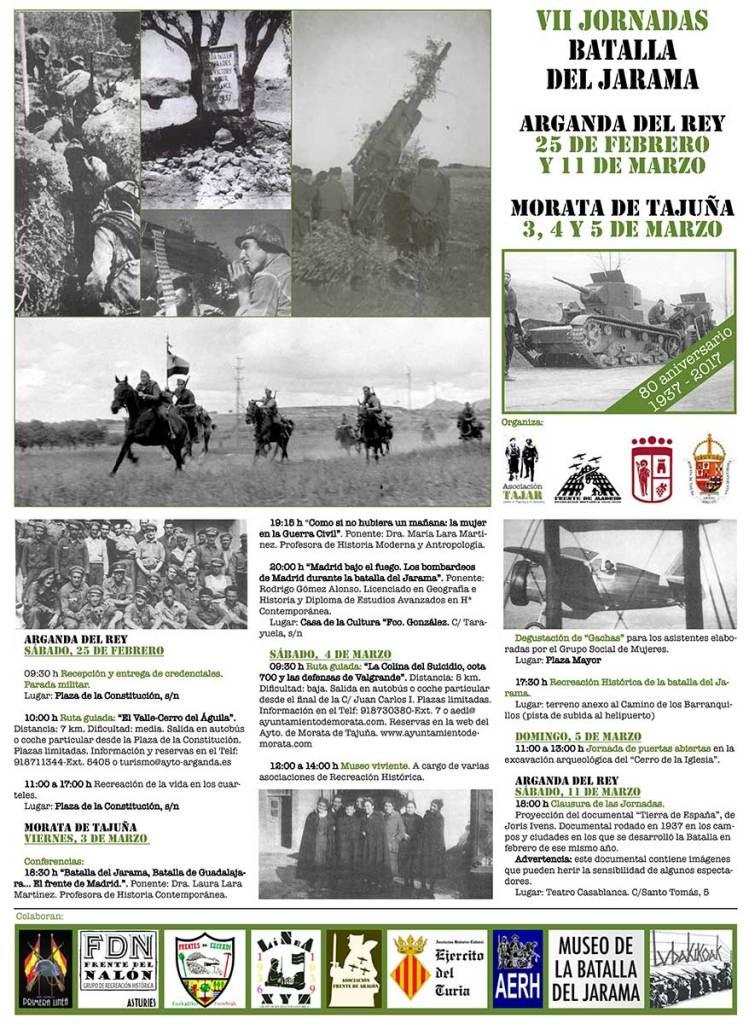 """Tríptico Asociación Tajar de """"La Batalla del Jarama"""" 2017"""