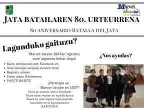 "Participa ""Jata Batailaren 80. Urteurrena / 80 Aniversario Batalla del Jata"" 2017"