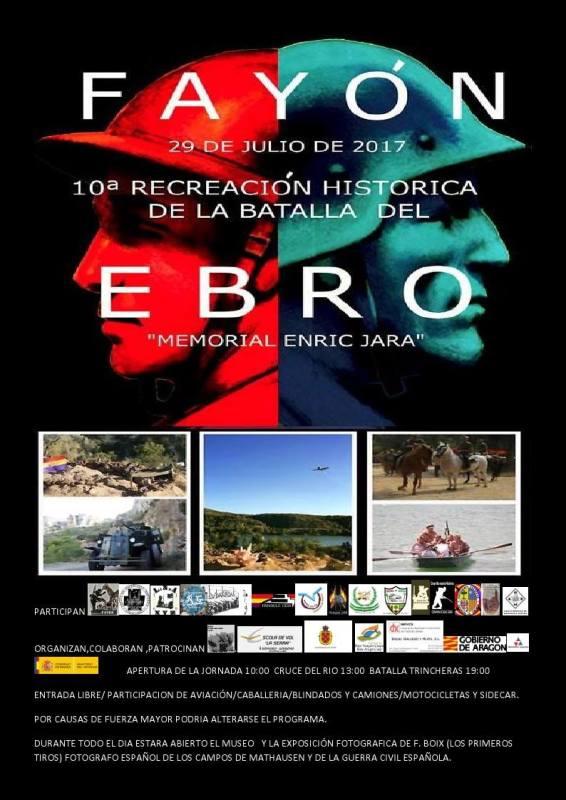 """Cartel y programa """"10ª Recreación Histórica de la Batalla del Ebro"""" 2017"""