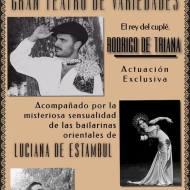 Cartel Gran Teatro de Variedades. Candamo 36-37 Jornadas de Recreación Histórica 2017
