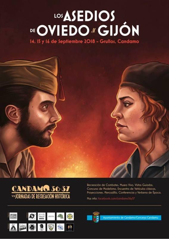 Cartel Candamo 36-37 VII Jornadas de Recreación Histórica 2018