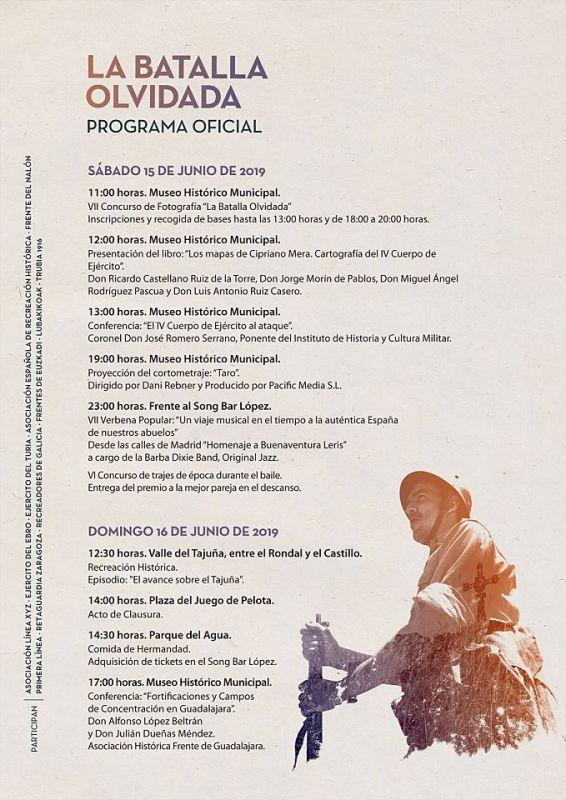 """Programa """"VIII Jornadas La Batalla Olvidada"""" 2019"""