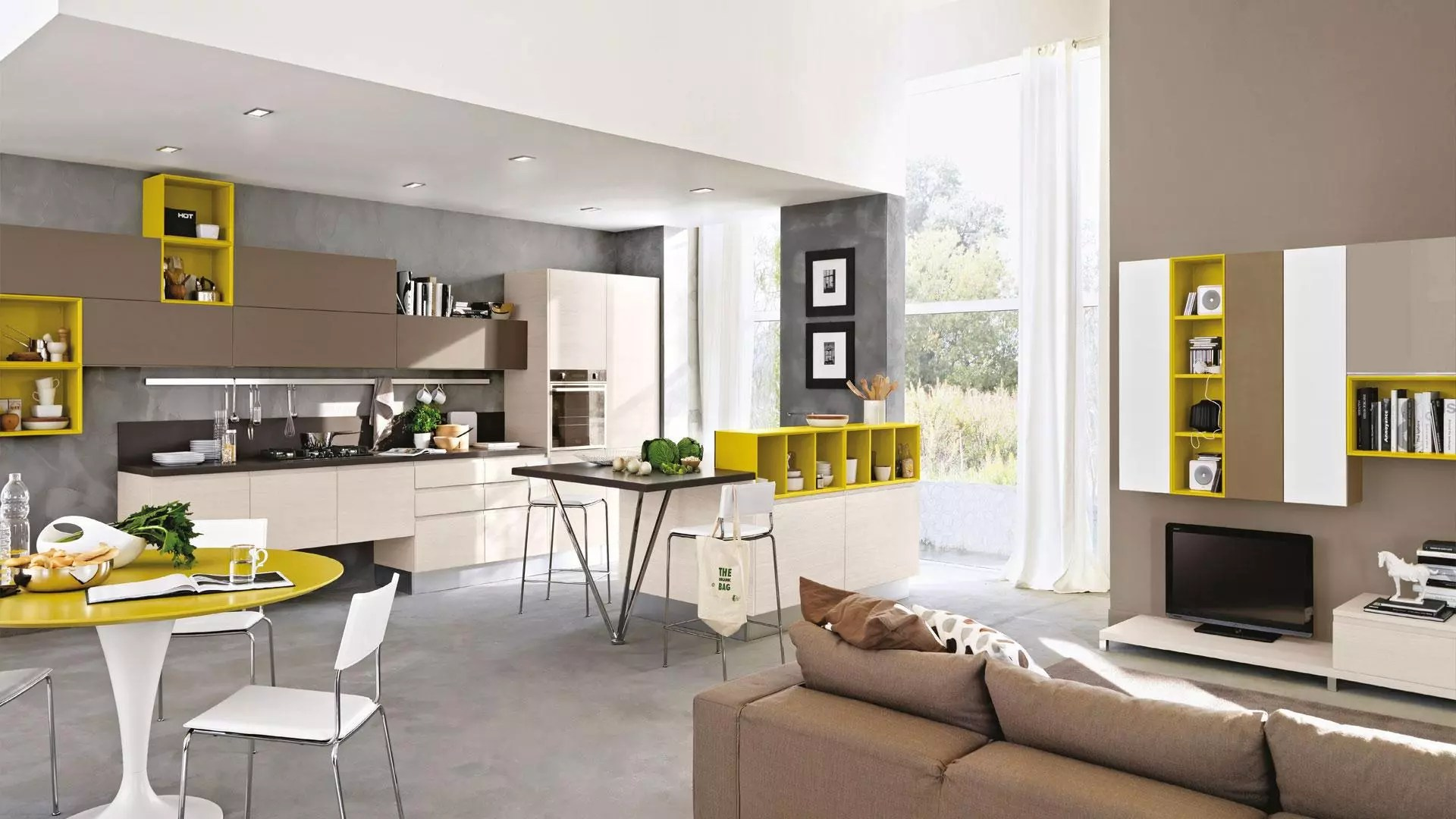 Il soggiorno con cucina a vista è una soluzione che piace sempre di più e che da alcuni anni troviamo in. Cucina A Vista 4 Spunti Per Arredarla Lube Store Milano