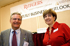 Joel Naroff and Samantha Collier at Rutgers Quarterly Business Outlook, October 2008