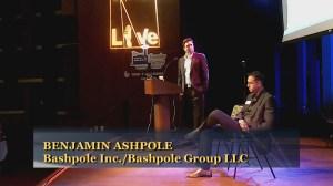 Benjamin Ashpole makes a point at Founder Factory 2010