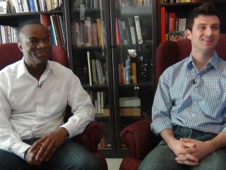 Eric Dobson and Emilio Panasci of Open Communities tape their diversity training DVD