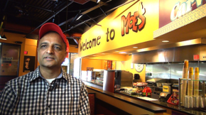 Raj Patel, co-owner of Moe's Southwest Grill, Somerset, NJ, is a business banking customer featured in a series of Unity Bank videos.