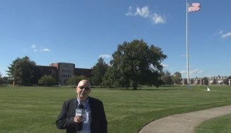Steve Lubetkin reporting from in front of Russel Hall at Fort Monmouth, NJ