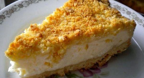 Быстрый пирог из творога в духовке рецепт с фото