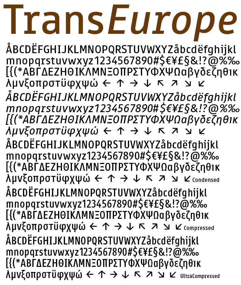 Austria and Slovakia use the TERN typeface.