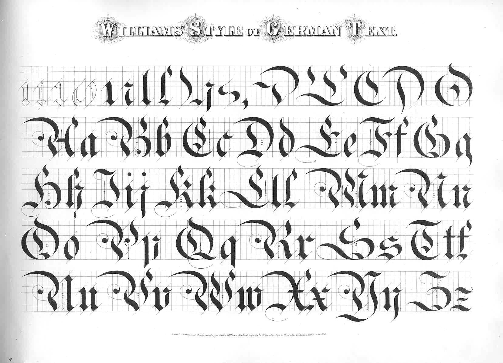 Penmanship German Font And Old English