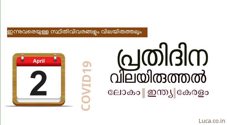 കോവിഡ്-19: പ്രതിദിന വിലയിരുത്തല്- ഏപ്രില് 2