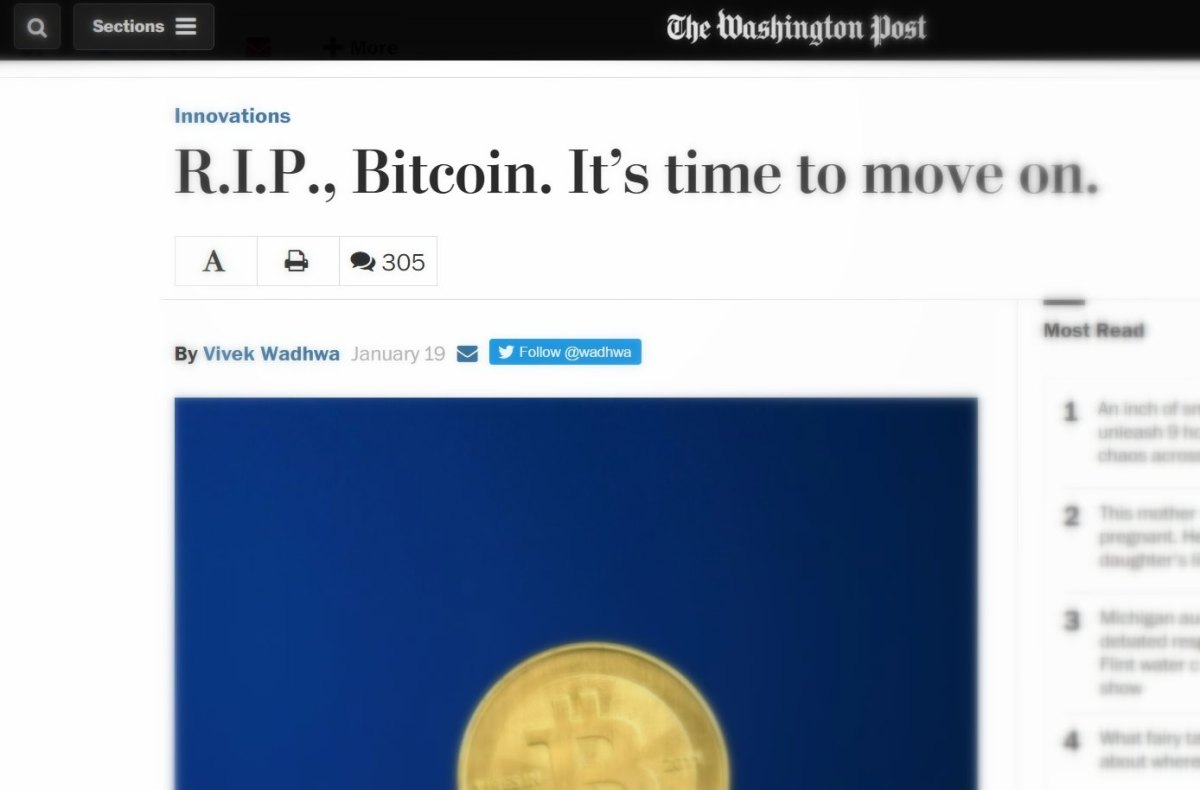 Is Bitcoin Dead (Again)?