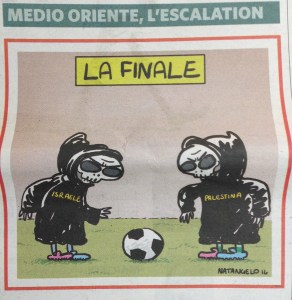 (ANSA - BLASFEMIA) La vignetta di Natangelo sul Fatto Quotidiano di oggi