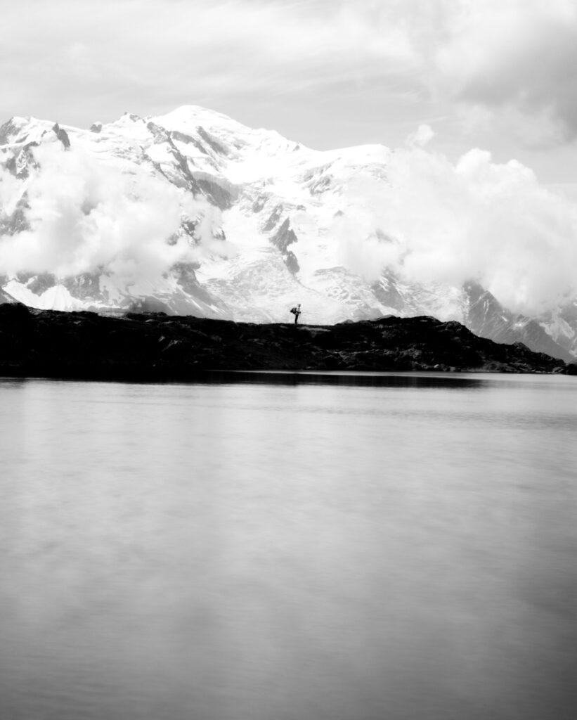 mont blanc lac de chesery