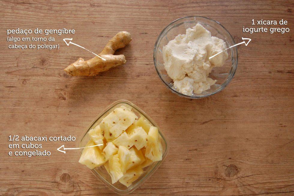 Suco de Abacaxi com iogurte e gengibre 2