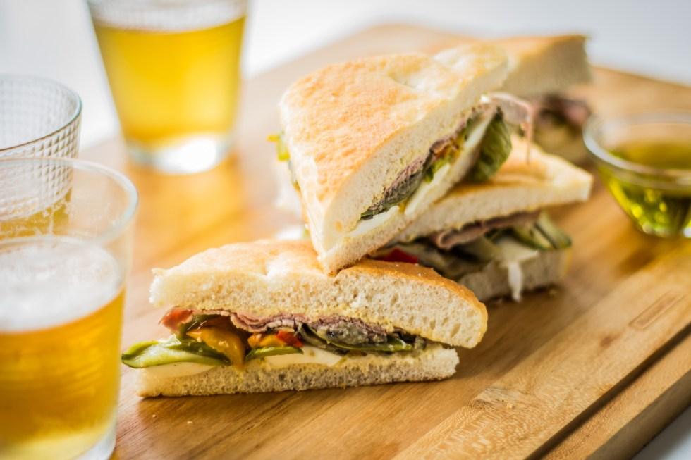 sanduíche de rosbife legumes assados1