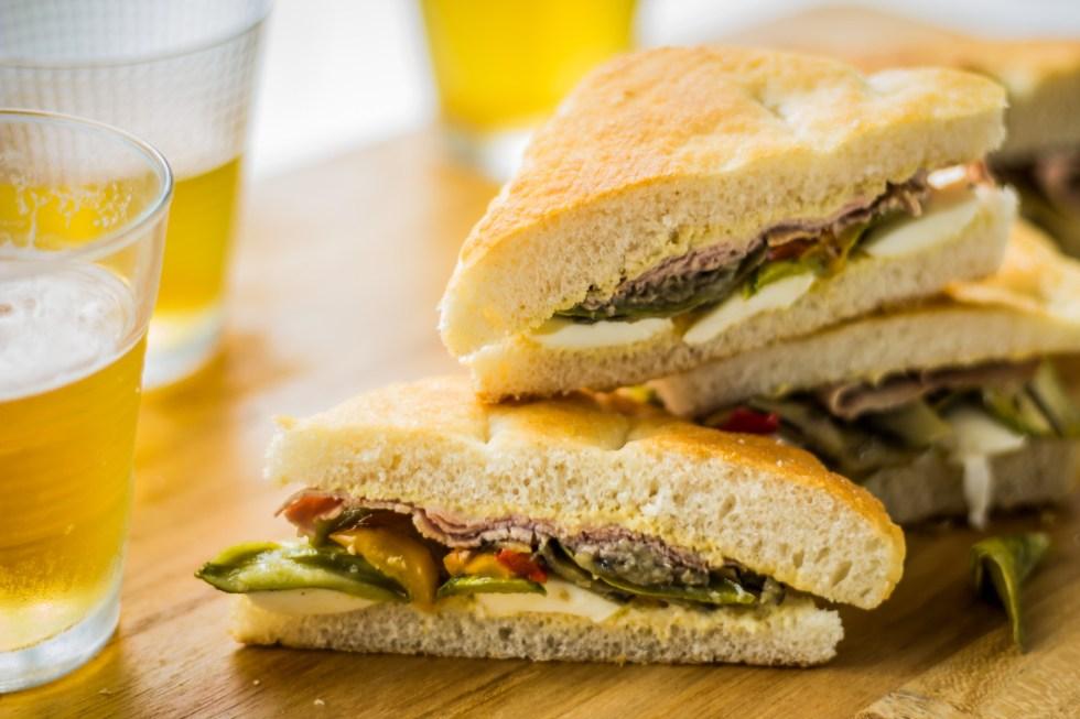 sanduíche de rosbife legumes assados3
