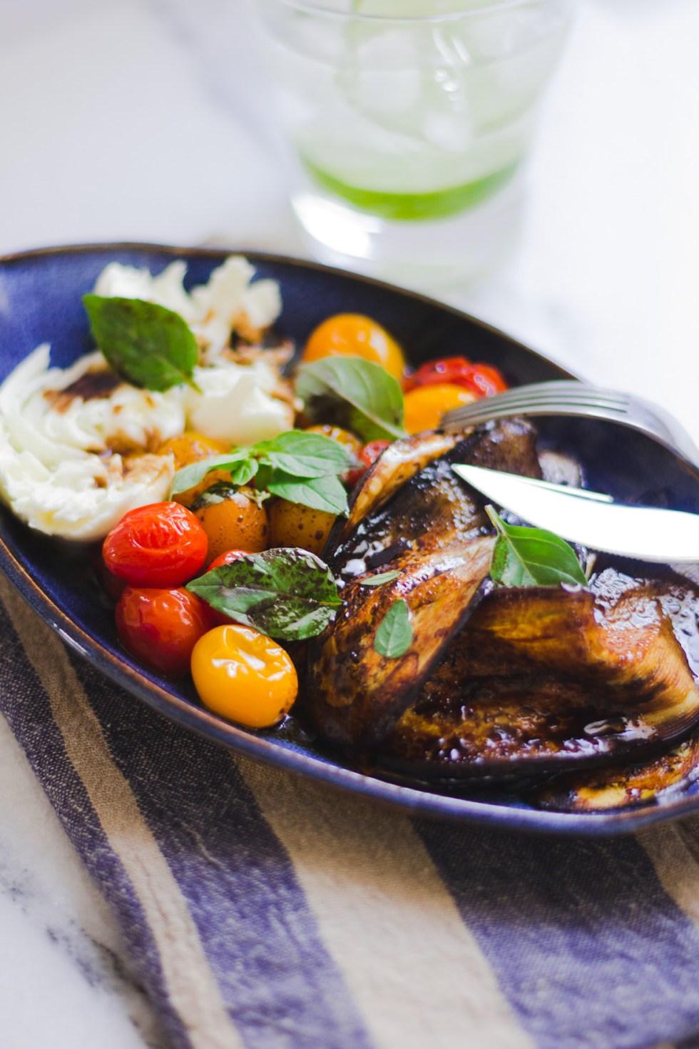 Salada de Berinjela, Tomate e Mozzarella de Búfala 3