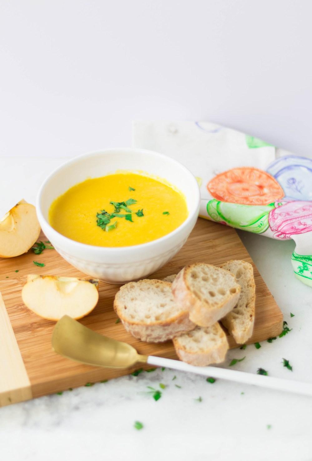 Sopa de Batata Doce, Cenoura e Maçã