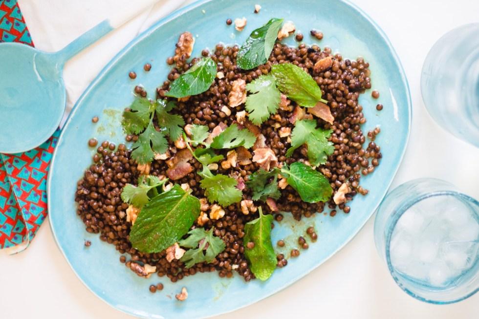 Salada de Lentilhas com Nozes e Bacon 6