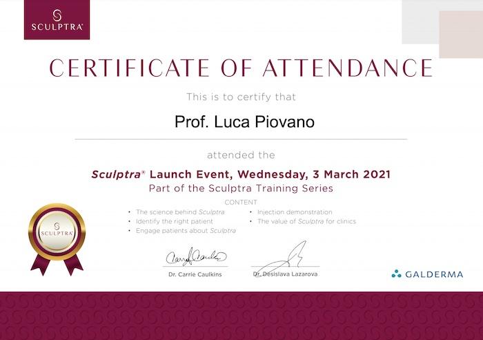sculptra training certificate
