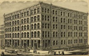 CROW, HARGADINE & CO. Jobbers of Dry Goods and Notions: Corner Sth Street and Washington Avenue.