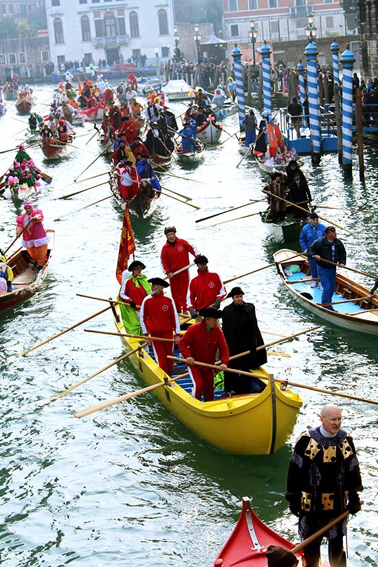 Venetian carnival boats