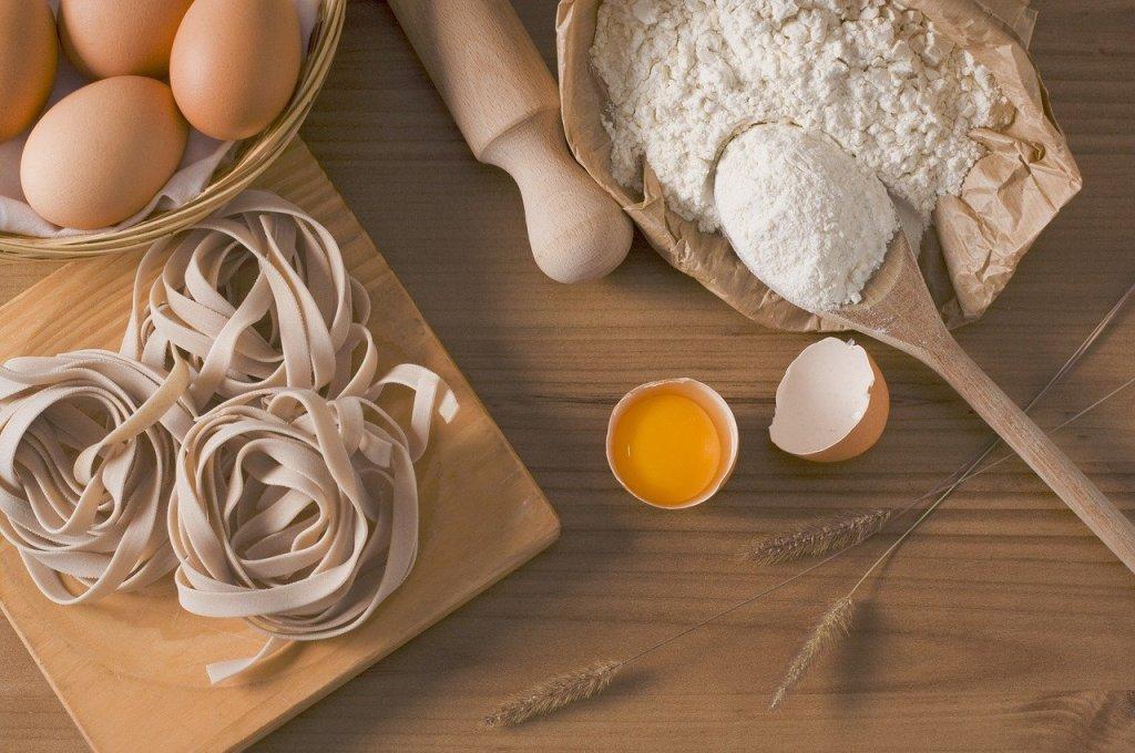 pasta, fettuccine, food