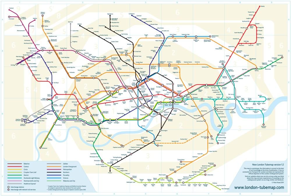 Real-world tube map