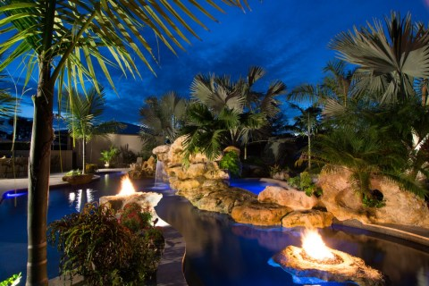 Fire Pits Spa and Grotto waterfall grotto rock waterfalls natural pools