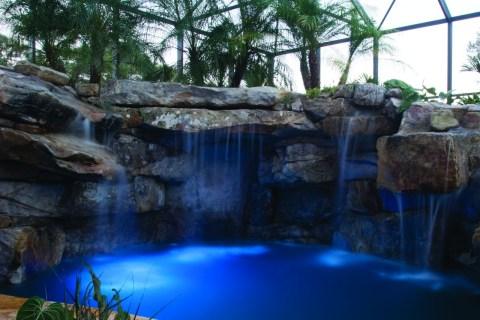 Natural stone lagoon grotto