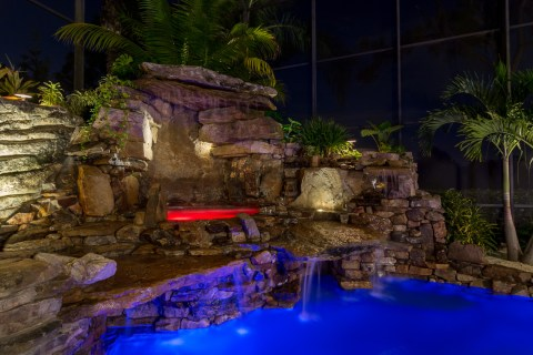 Spa and waterfall