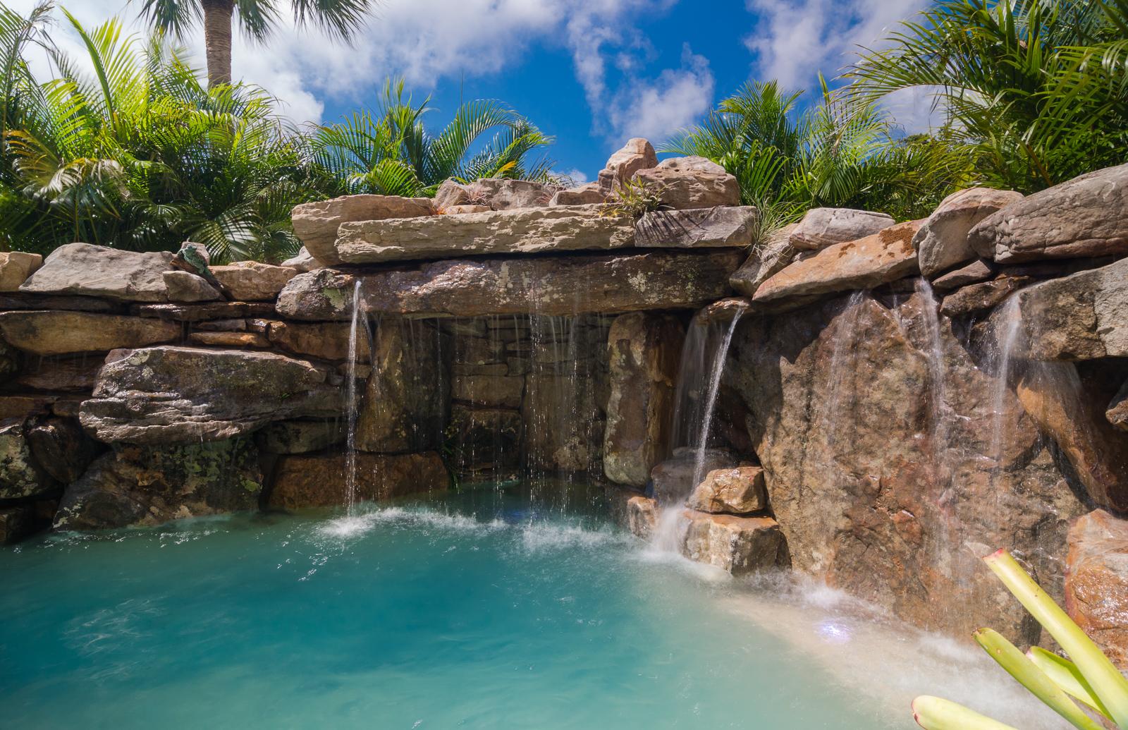 Amazing Pools Grotto Waterfall Swimming Pool Custom Builder