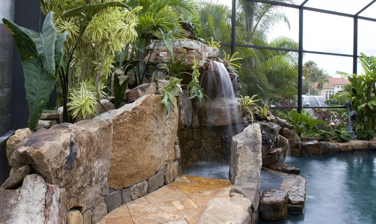 Lagoon Waterfall Architectural Pool Remodel Lucas Lagoons