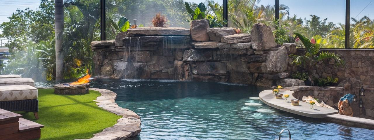 Lucas Lagoons Lazy River Insane Pools Custom pool on Pine Island