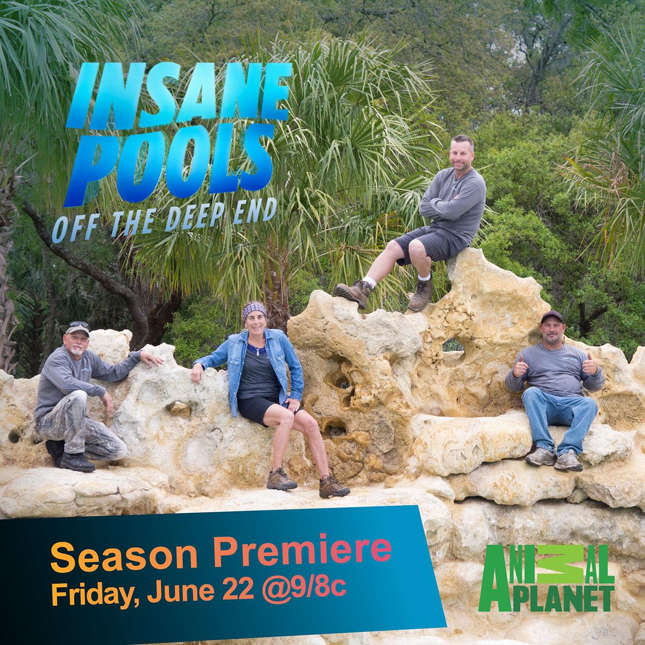 Lucas Lagoons Insane Pools season 3 Crew