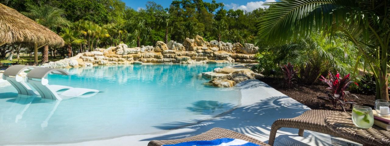 Sarasota custom pool tropical lagoon