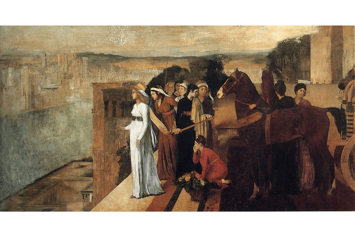 經典理財書《巴比倫巨富》配圖:Semiramis builds Babylon by Edgar Degas
