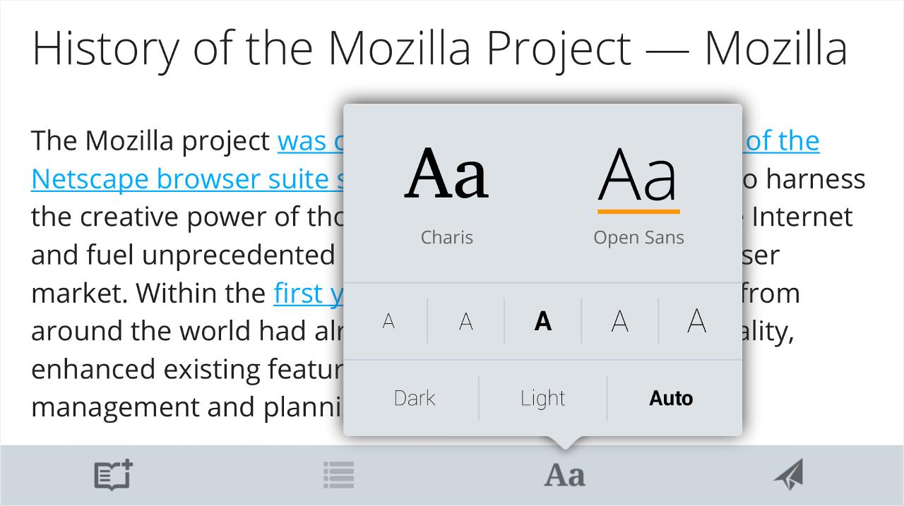 ตัวช่วยอ่านใน Firefox