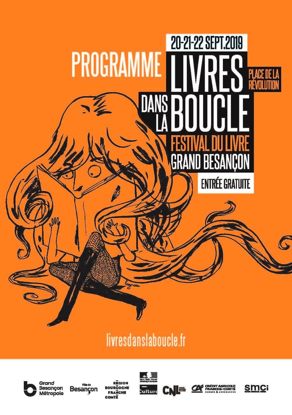 Affiche de Livres dans la boucle, festival à Besaçon