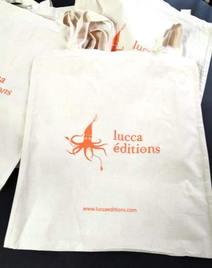 Tote-bag avec le logo Lucca Éditions